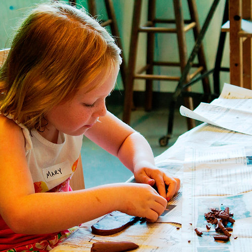 Create with Clay Summer Camp [ages 5 - 8]    monday - friday     9 am - 12 pm