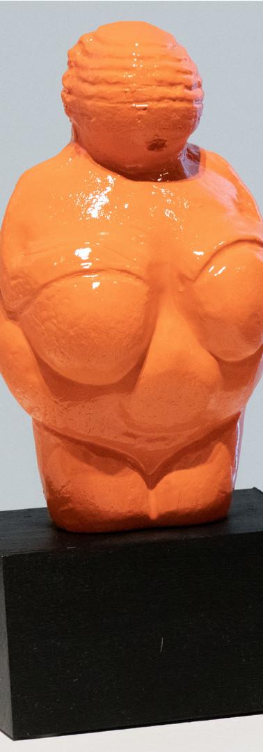 Venus of Willendorf (orange) by Kathy Zimmerli Wofford