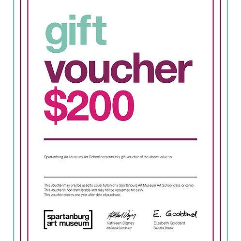 $200 - Art School Gift Certificate
