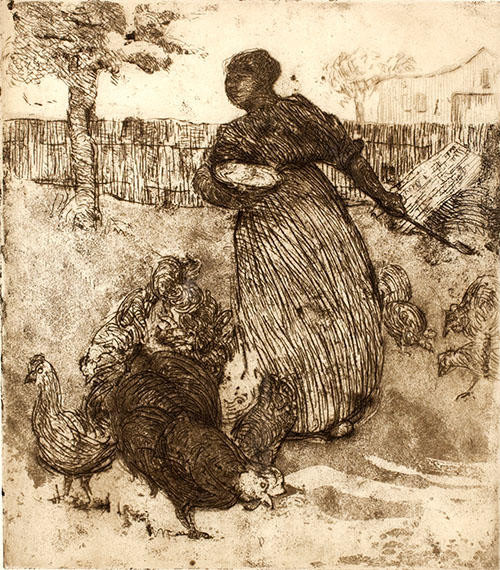 margaret law  |  feeding the chickens