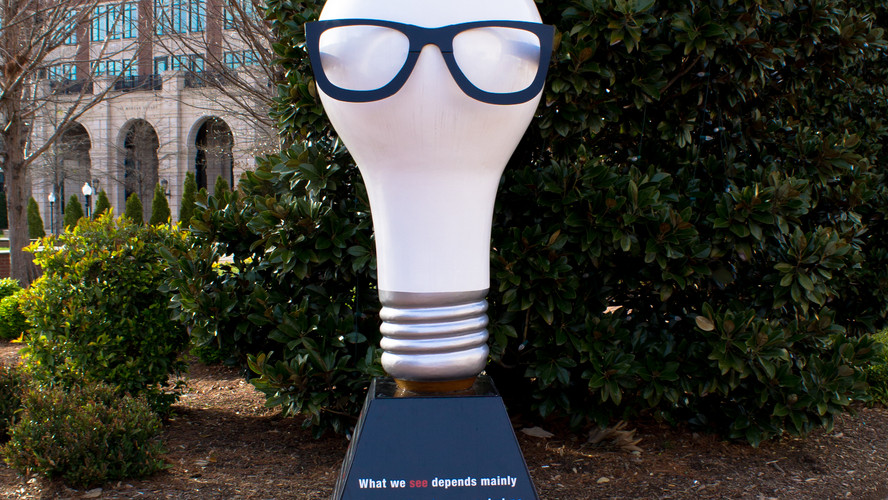 Bulb with Glasses