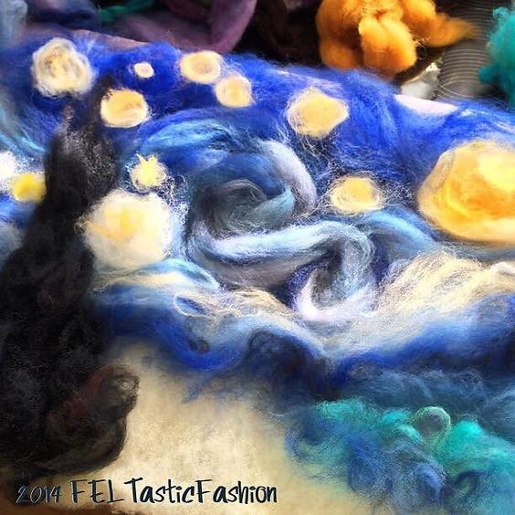 Art Workshop   Starry Night Needle Felting