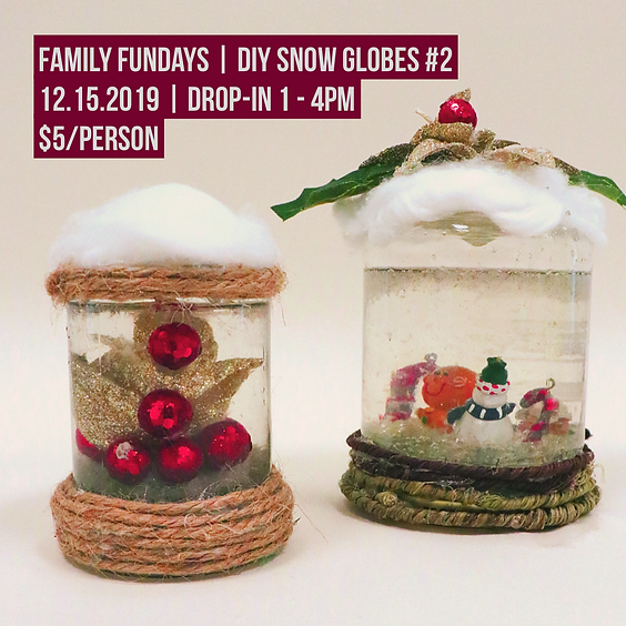 Family Fundays | DIY Snow Globes #2