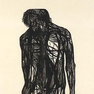 leonard baskin     hanged man