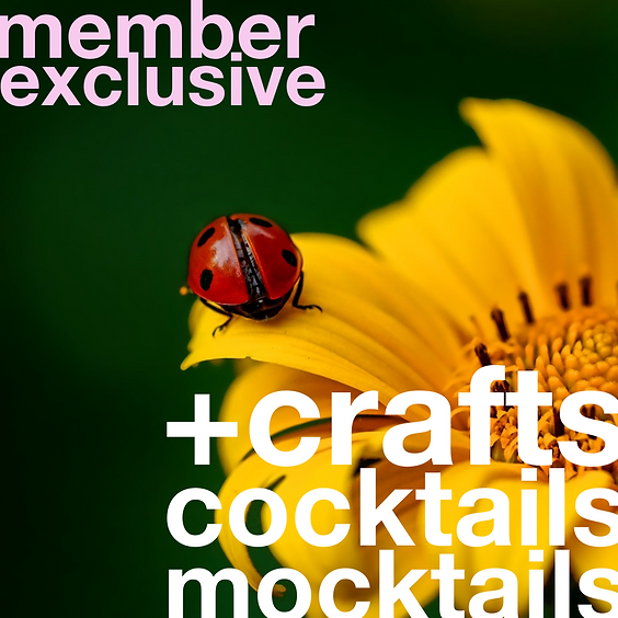 Mocktails, Cocktails, + Crafts | April 22 (Slot 1)