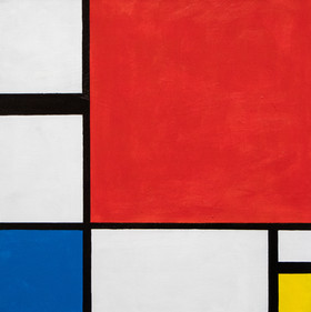Composition in Red, Blue, and Yellow