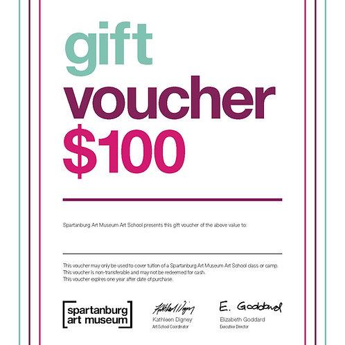 $100 - Art School Gift Certificate