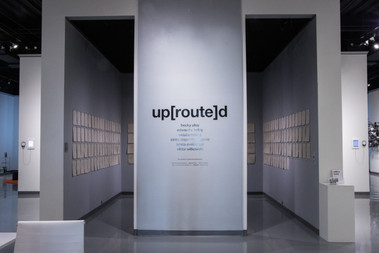 up[route]d: installation view
