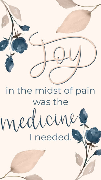Joy In The Midst Of Pain Was The Medicine I Needed -Christine Caine Quote