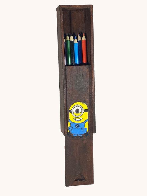 Boîte à crayons coulissante Minion