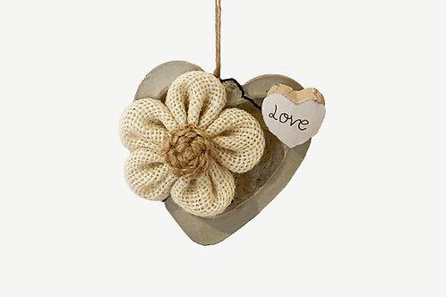 Coeur décoratif en béton