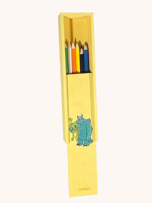 Boîte à crayons coulissante Monstre & Cie