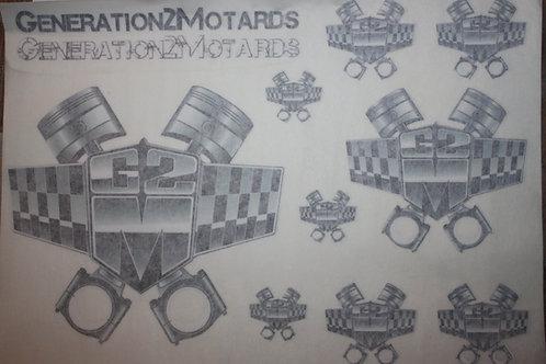 Planche Stickers 3M