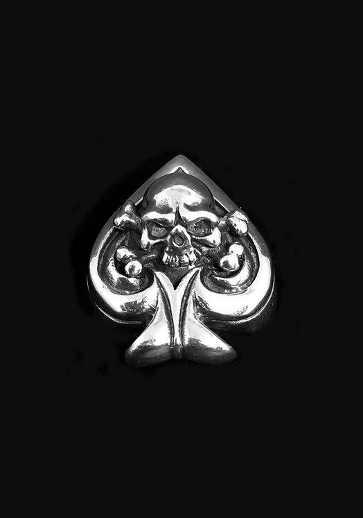 Skull  Spades Ring