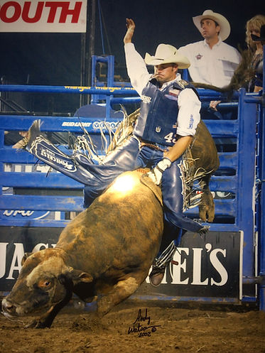 Beni Paulson, former PBR professional bull rider, turned Breaking Eight country music star.