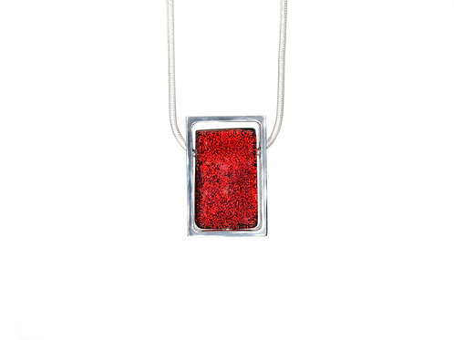 Northern Lights Necklace Sparkling Red Front View