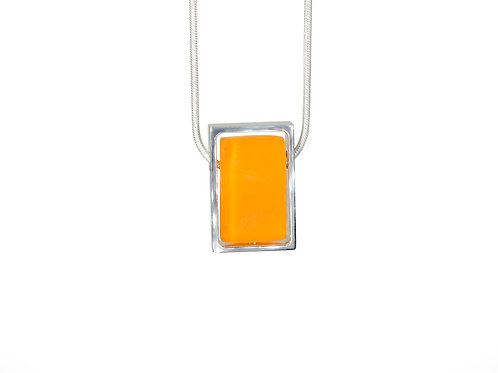 Northern Lights Necklace Tangerine Orange Front View