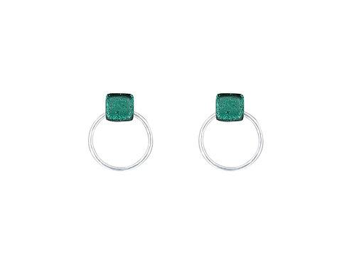 Emerald Green Hoop Earrings