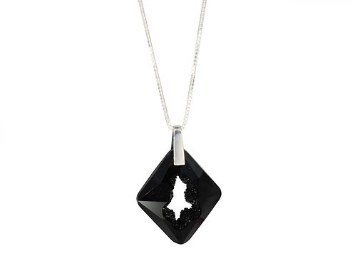 Cosmic Star Necklace Jet Black