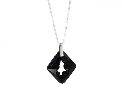 Cosmic Star Necklace Jet Black