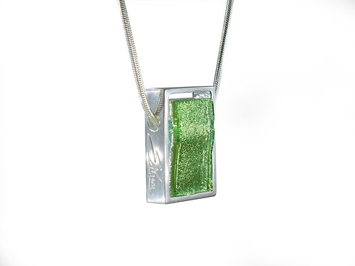 Colourful Necklace in Sparkling Green by Ellen Kvam