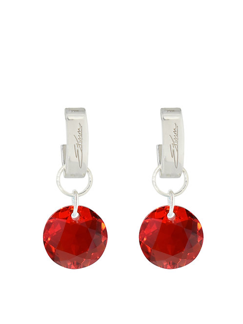 Classic Crystal Cut Earrings Light Siam