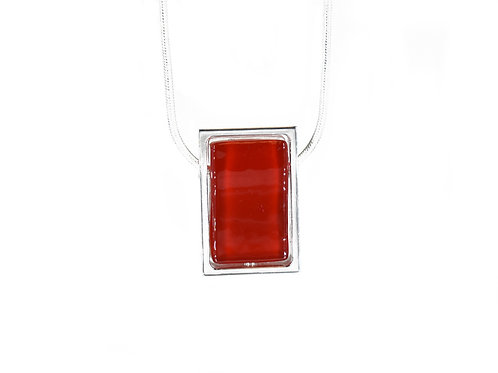 Northern Lights Necklace Passionate Red Front View