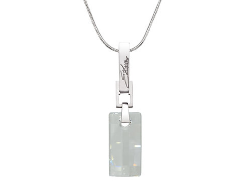 Urban Embers Necklace Clear Crystal