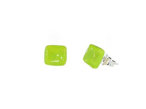 Handmade Glass Stud Earrings by Ellen Kvam Norwegian Design