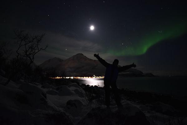 Ellen Kvam og nordlyset | Tromsø, Norway