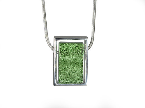 Northern Lights Necklace Sparkling Green Front View