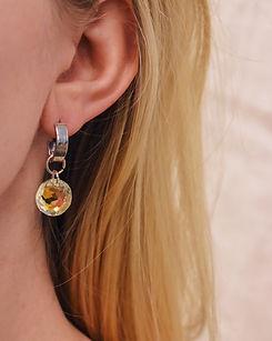 Classic Crystal Earrings Aurore Boreale.