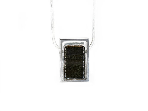 Northern Lights Necklace Sparkling Black Front View