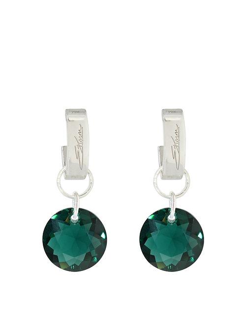 Classic Crystal Cut Earrings Emerald