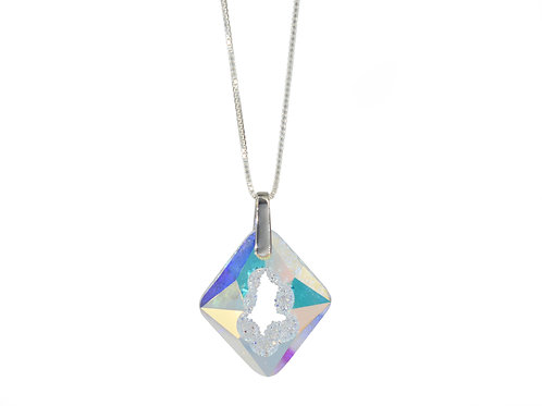Cosmic Star Necklace Crystal Aurore Boreale