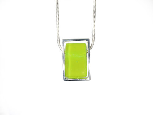 Northern Lights Necklace Neo Lime Front View