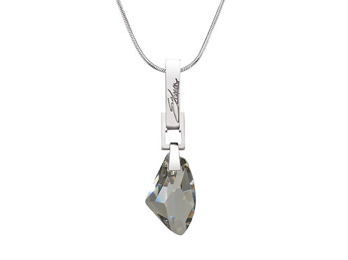 Frozen Embers Necklace Silver Shade Swarovski Crystal