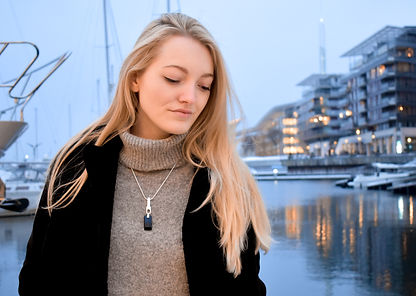 Design Jewellery: Simple and Elegant Necklace by Ellen Kvam Norwegian Design