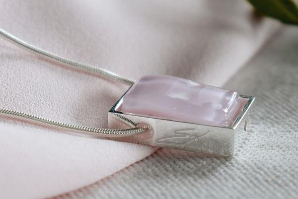 Northen Lights Necklace in Light Pink by Ellen Kvam Norwegian Design