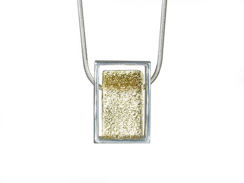 Northern Lights Necklace Sparkling Yellow Front View