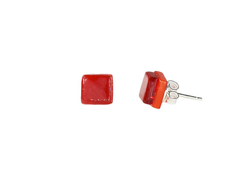 Northern Lights Stud Earrings Passionate Red