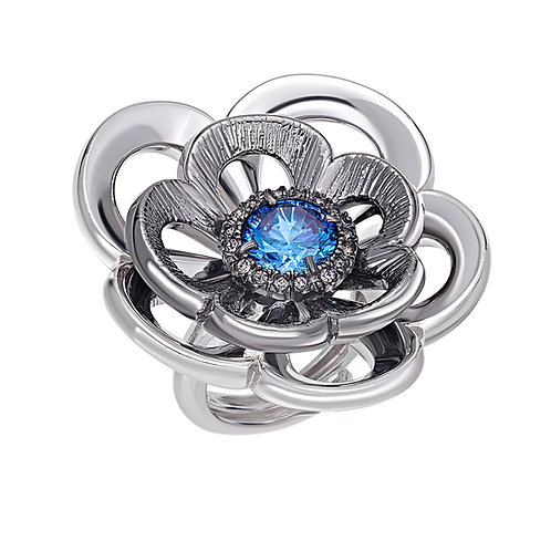 Sterling Silver Ring | Swarovski Crystals | Ellen Kvam Norwegian Design