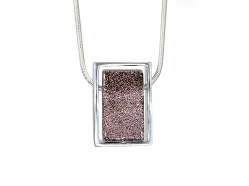 Northern Lights Glass Necklace Sparkling Plum Front View