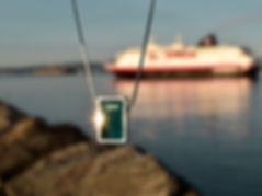 Northern Lights Necklace | Hurtigruten Cruiseliners | Sterling Silver Necklace