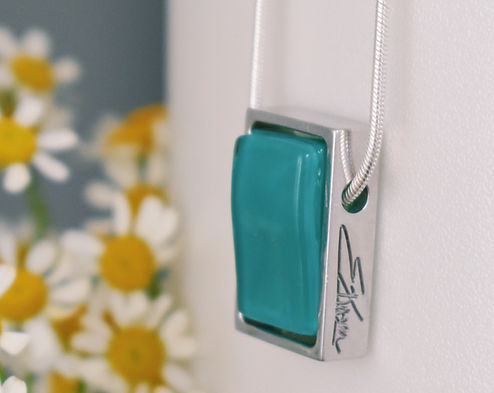 Lofoten Green Glass Necklace | Ellen Kvam Norwegian Design
