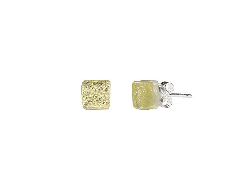 Northern Lights Glass Stud Øredobber Sparkling Yellow