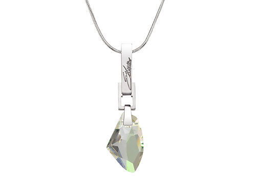 Frozen Embers Necklace Luminous Green Swarovski Crystal