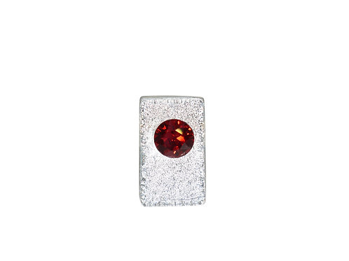 Capricorn Birthstone Glass Pendant