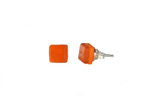 Northern Lights Stud Earrings Orange