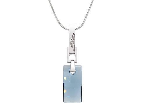 Simple and Elegant Sterling Silver Necklace | Swarovski Crystals | Urban Embers Necklace Denim Blue | Ellen Kvam